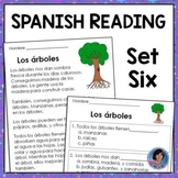 Distance Learning Spanish Reading Comprehension Passages and Questions - Set 6