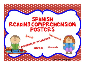 Spanish Reading Comprehension Posters with Inferring and more