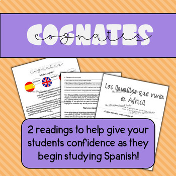Reading Comprehension Practice- Cognates! Comprehensible Input
