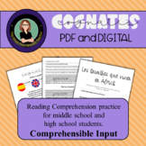 Spanish Reading Comprehension Practice- Cognates! Comprehensible Input