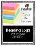 Spanish Reading Comprehension Reading Logs 2nd & 3rd Grade Fiction w/Google Docs