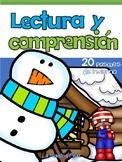 Spanish Reading Comprehension/Winter / Lectura y comprensión de invierno