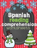 Spanish Reading Comprehension Worksheets