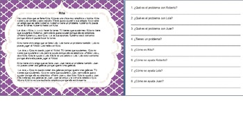 Spanish Reading Comprehension and Sequence of Events Activity TPRS