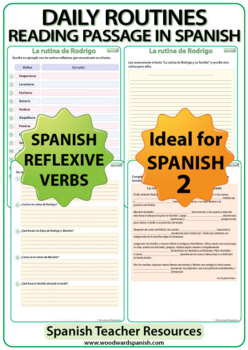 Spanish Reading - Daily Routines - Reflexive Verbs