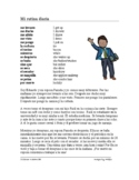 Spanish Reflexive Verbs Reading + Worksheet - Verbos Refle