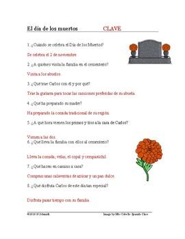 El día de los muertos Lectura Cultural - Day of the Dead Spanish Reading