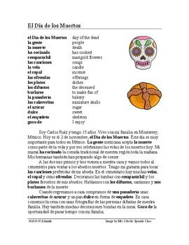 El día de los muertos Lectura y Cultura - Day of the Dead Spanish Reading