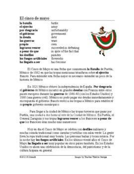 El Cinco de Mayo Lectura ~ El 5 de Mayo Spanish Reading