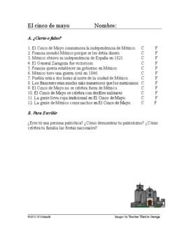 El Cinco de Mayo Lectura - El 5 de Mayo Spanish Reading