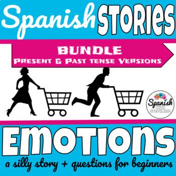 Spanish Reading: Emotions (past/present bundle)