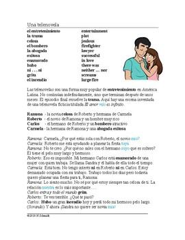 Telenovela Lectura - Spanish Script - Scene from a Soap Opera