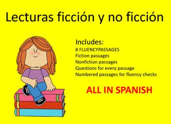 Spanish Reading Fluency Passages Fluidez en Espanol