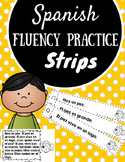 Spanish Reading Fluency Practice Strips (Tiras de fluidez