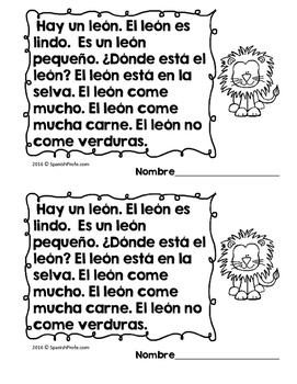 Spanish Reading Fluency Practice Strips (Tiras de fluidez para lectura)