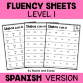Spanish Reading Fluency Sheets 1