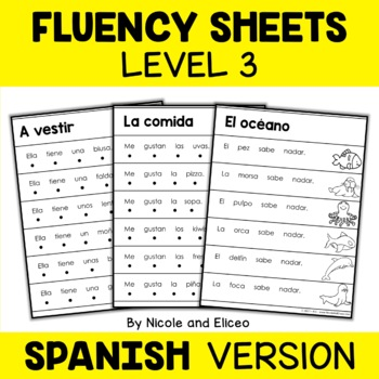 Spanish Reading Fluency Sheets - Level 3
