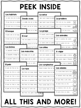 Spanish Reading Fluency Sheets 4