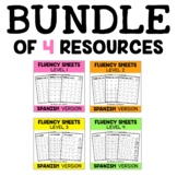 Spanish Reading Fluency Sheets Bundle