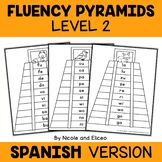 Spanish Reading Fluency Word Ladder Pyramids 2