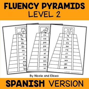 Spanish Reading Fluency Word Pyramids 2