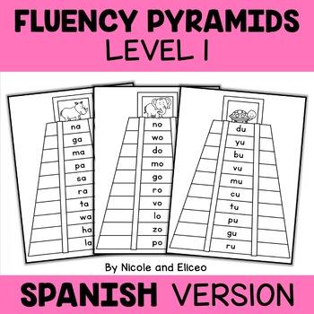 Spanish Reading Fluency Word Pyramids 1