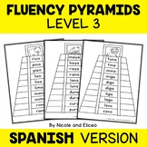 Spanish Reading Fluency Word Ladder Pyramids 3