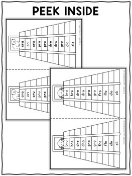 Spanish Reading Fluency Word Pyramids 4