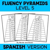 Spanish Reading Fluency Word Pyramids 5
