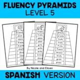 Spanish Reading Fluency Word Pyramids 5