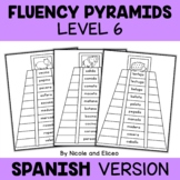 Spanish Reading Fluency Word Pyramids 6