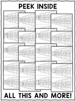 Spanish Reading Fluency Word Pyramids 6