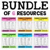 Spanish Reading Fluency Word Pyramid Bundle