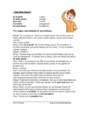 Giving Friends Advice Reading and Worksheet - Mandatos Lectura (tú commands)