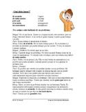 Spanish Tú Commands Reading: ¿Qué debo hacer? Lectura (Man