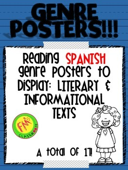 Spanish Reading Genre Posters