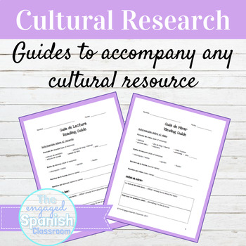 Spanish Reading Guide + Viewing Guide for Authentic Resources