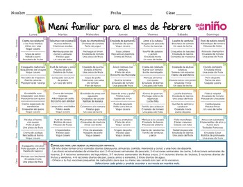 Spanish Reading – Healthy Eating/Menu, La Comida/El Menú Sana Infographic