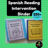 Spanish Reading Intervention Binder (Intervencion de lectura)
