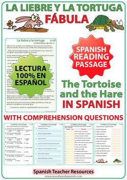Spanish Reading - La Liebre y la Tortuga - Fábula