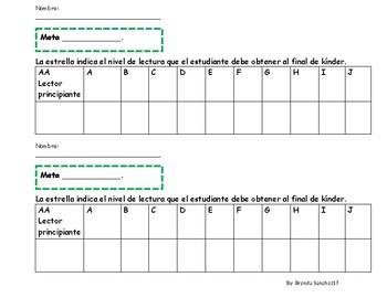 Spanish Reading Level Tracker