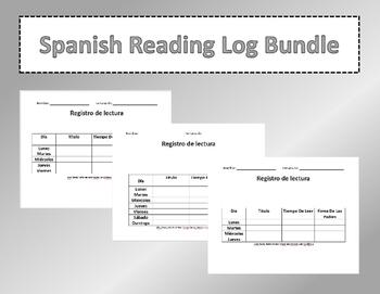 Spanish Reading Log Bundle