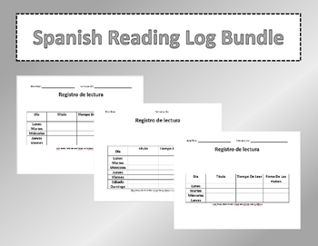 Spanish Reading Log Bundle