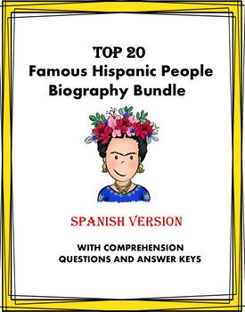 Spanish Reading MEGA Bundle: Biografías - 20 Famous Hispanics at 50% OFF!