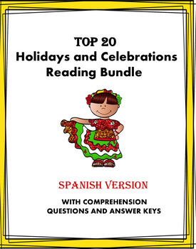 Spanish Reading MEGA Bundle Holidays and Celebrations: 20 Lecturas! (50% off!)