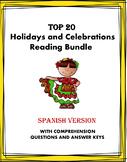 Spanish Reading MEGA Bundle Holidays and Celebrations: 20