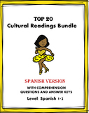 Spanish Reading Mega Bundle: Cultura: 20 Lecturas - Spanish 1/2 (50% Off!)