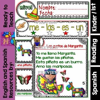 Spanish Reading Mexico Passages Translation Sheet Added Level 1