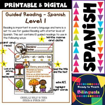Spanish Reading - Otoño / Fall - 10 Guided Reading Passages - Level 1