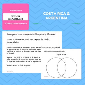 Spanish Reading Passage   Venn Diagram